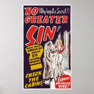 "Vintage de ""cartaz cinematográfico nenhum maior pe poster"