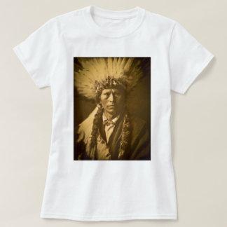 Vintage de Garfield Jicarilla do chefe indiano de T-shirt