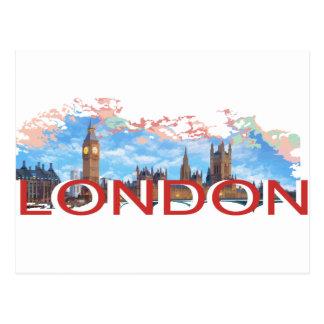 Vintage de Londres Cartão Postal