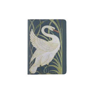 Vintage de Nouveau da arte da cisne Capa Para Passaporte