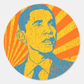Vintage de Obama Adesivo Em Formato Redondo