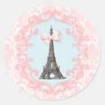 Vintage de Paris Adesivos Em Formato Redondos