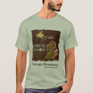 Vintage Dearborn: Mapa da matrícula Camiseta