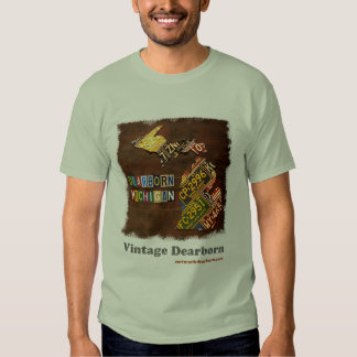 Vintage Dearborn: Mapa da matrícula Tshirt