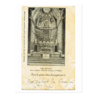Vintage di Pompeia de Italia, Valle, 1901, igreja Cartão Postal