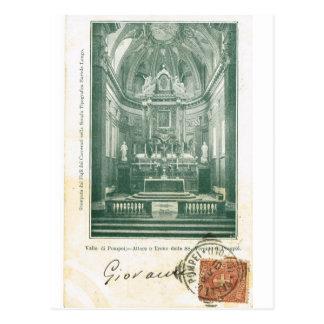 Vintage di Pompeia de Italia, Valle, Altare e Tron Cartões Postais