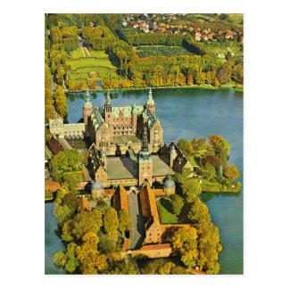 Vintage Dinamarca, Fredericksburg, castelo Cartões Postais