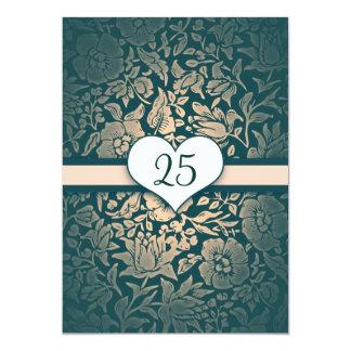 vintage do aniversário de casamento gasto convite 12.7 x 17.78cm