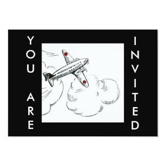 Vintage do avião que tira o convite da aviação de