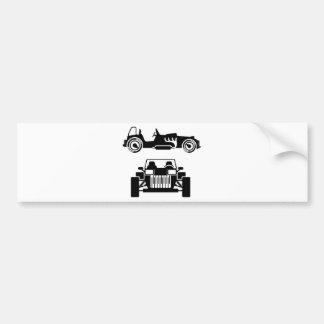 Vintage do carro de competência adesivo para carro