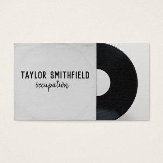 vintage do cartão de indústria musical do registro