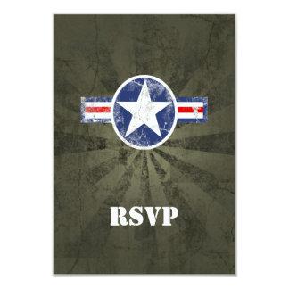 Vintage do corpo de ar do exército convites personalizado