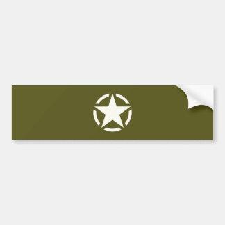 Vintage do estêncil da estrela no verde Khaki Adesivo Para Carro
