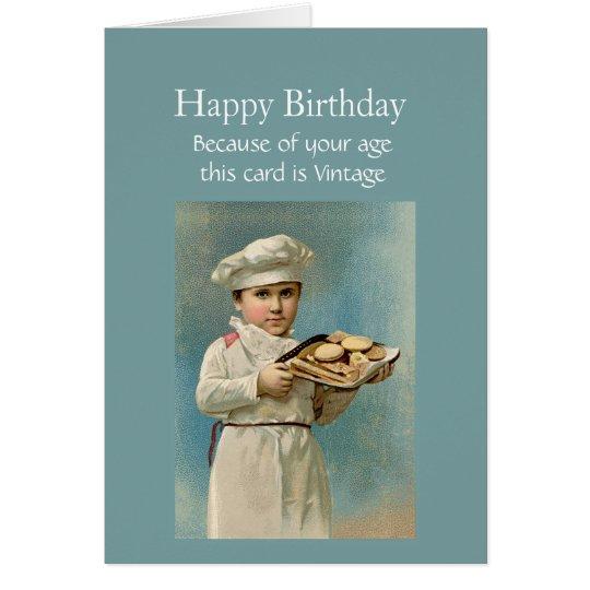 Vintage do feliz aniversario porque eu gosto de cartão comemorativo