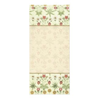 Vintage do jardim do país floral 10.16 x 22.86cm panfleto