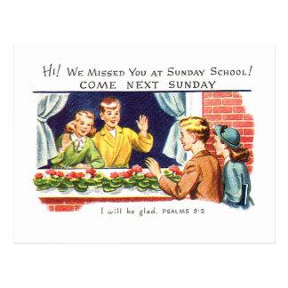 Vintage do kitsch nós faltamo-lo catequese cartão postal