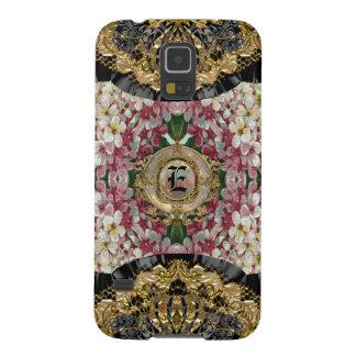 Vintage do monograma de Lilflormth floral Capas Par Galaxy S5