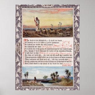 Vintage do salmo 23 impressão