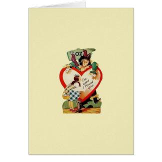 Vintage Dorothy e namorados do espantalho Cartão Comemorativo