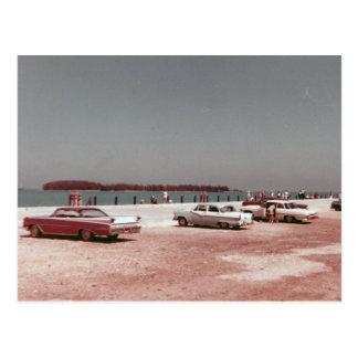Vintage dos anos 60 de Key West da doca de Mallory Cartão Postal