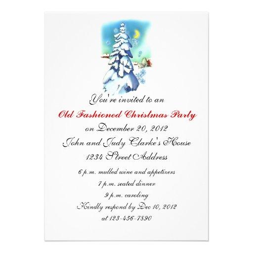 Vintage dos convites da festa de Natal