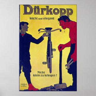 Vintage Durkopp da propaganda da bicicleta Impressão