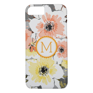 Vintage elegante #23 floral do monograma capa iPhone 8/ 7