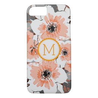 Vintage elegante #25 floral do monograma capa iPhone 8/ 7
