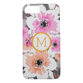 Vintage elegante #26 floral do monograma capa iPhone 8/ 7