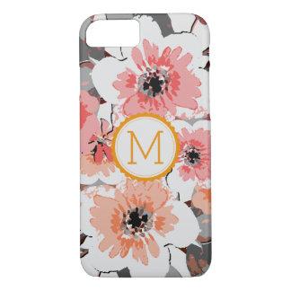 Vintage elegante #27 floral do monograma capa iPhone 8/ 7