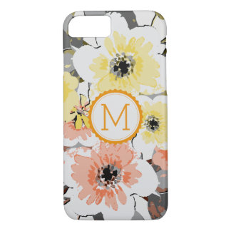 Vintage elegante #29 floral do monograma capa iPhone 8/ 7