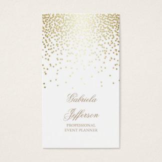 Vintage elegante branco do encanto dos confetes do cartão de visitas