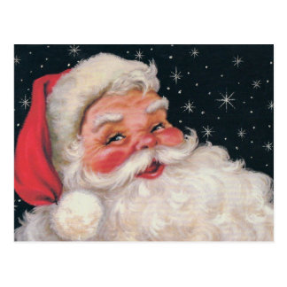 Vintage encantador Papai Noel Cartão Postal