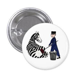 Vintage engraçado das listras da zebra francesa do boton