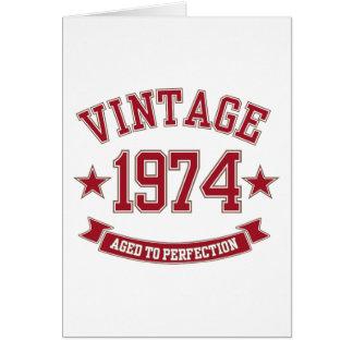 Vintage envelhecido à perfeição 1974 cartao