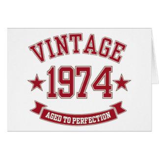 Vintage envelhecido à perfeição 1974 cartoes