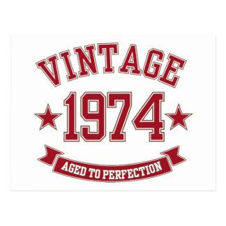Vintage envelhecido à perfeição 1974 cartao postal
