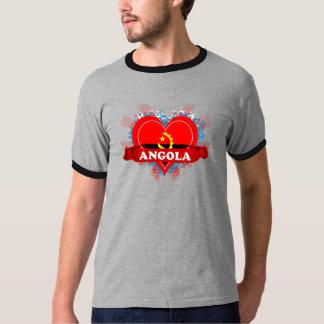 Vintage eu amo Angola Camiseta