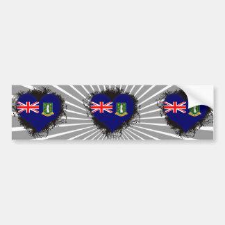 Vintage eu amo British Virgin Islands Adesivo