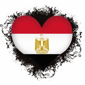 Vintage eu amo Egipto Foto Esculturas