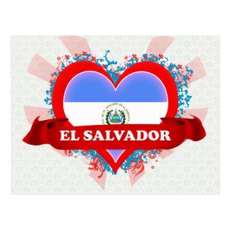 Vintage eu amo El Salvador Cartao Postal