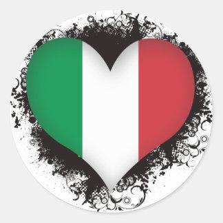 Vintage eu amo Italia Adesivo Redondo