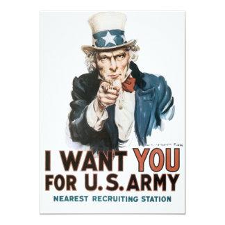 Vintage eu quero-o poster do exército convite 12.7 x 17.78cm