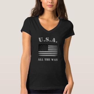Vintage EUA. Toda a bandeira americana da maneira Camisetas
