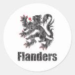 Vintage Flanders Adesivo Em Formato Redondo