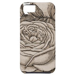 Vintage floral capa tough para iPhone 5