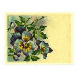 Vintage floral cartao postal