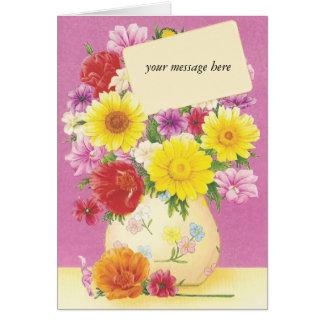 Vintage floral da mensagem feita sob encomenda alg