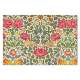 Vintage floral do rosa de William Morris Papel De Seda