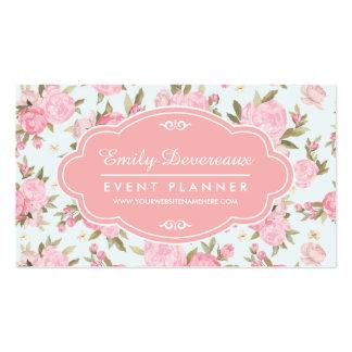 Vintage floral feminino elegante personalizado cartoes de visita